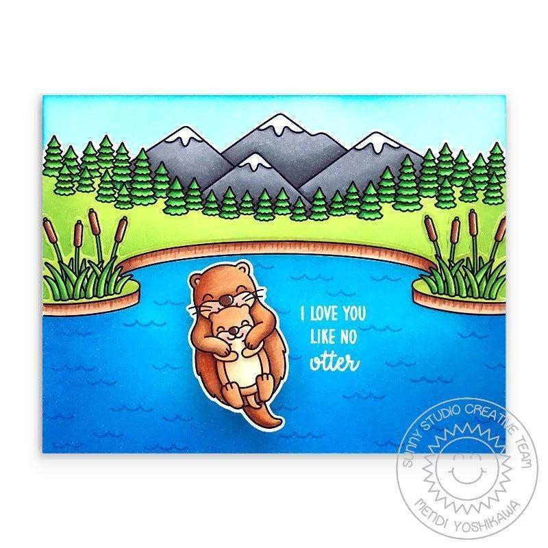 My Otter Half, Sunny Studio Clear Stamps -