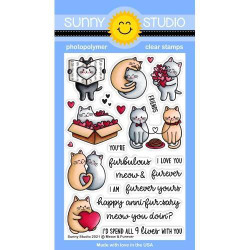 Meow & Forever, Sunny Studio Clear Stamps -