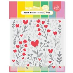Heart Blooms, Waffle Flower Stencils -