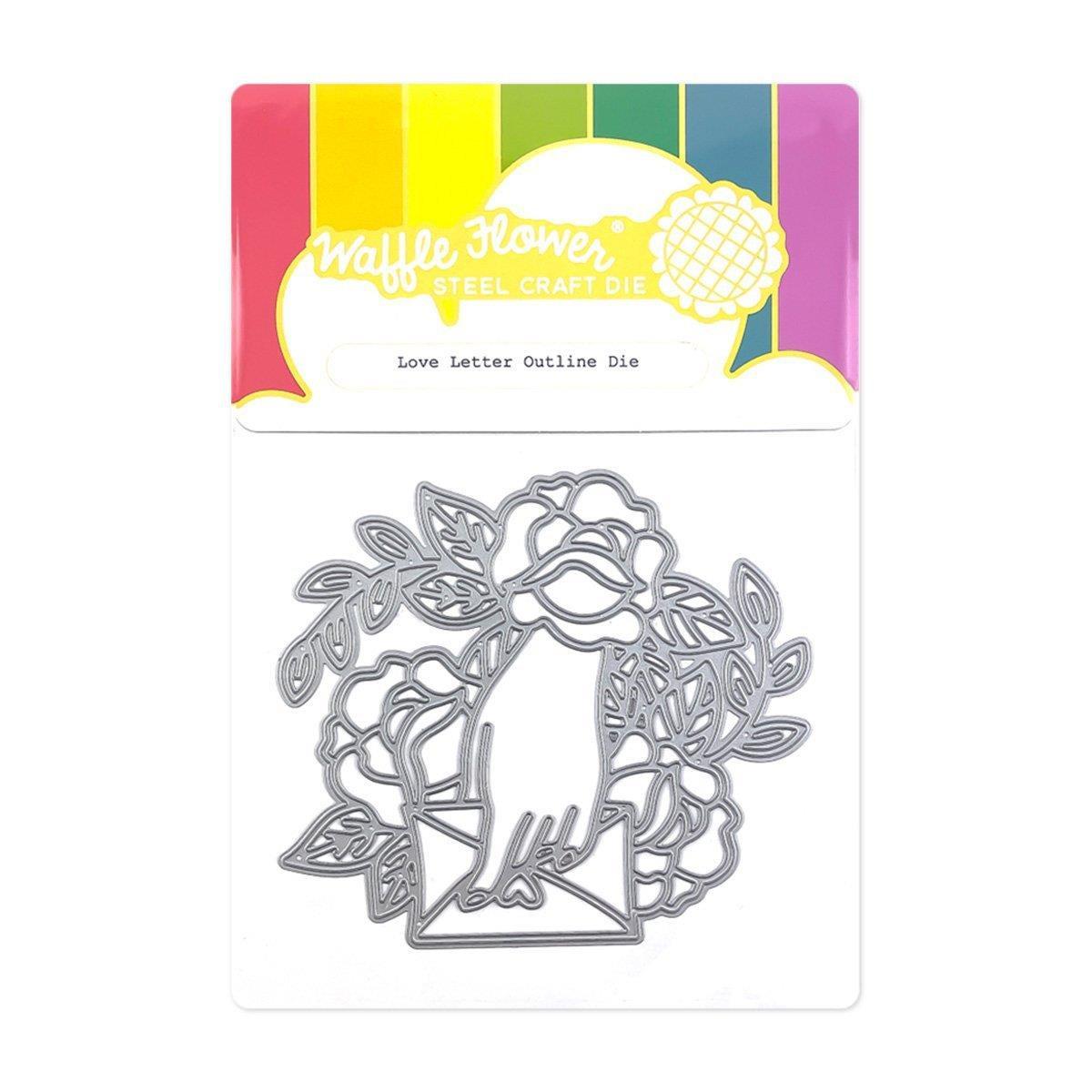 Love Letter Outline, Waffle Flower Dies -