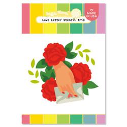 Love Letter, Waffle Flower Stencils -