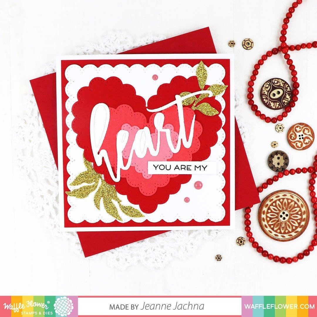 Oversized Heart, Waffle Flower Stamp & Die Combo -