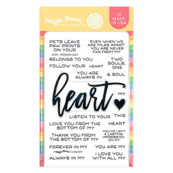 Oversized Heart, Waffle Flower Clear Stamps -