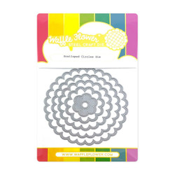 Scalloped Circles, Waffle Flower Dies -