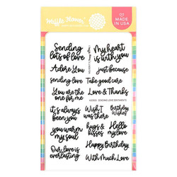 Sending Love Sentiments, Waffle Flower Clear Stamps -