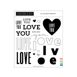 All the Love, Concord & 9th Clear Stamps -