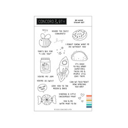 Be Mine, Concord & 9th Clear Stamps -