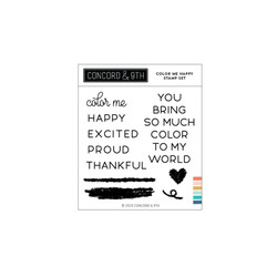Color Me Happy, Concord & 9th Clear Stamps -