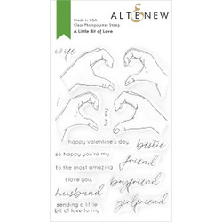 A Little Bit of Love, Altenew Clear Stamps -