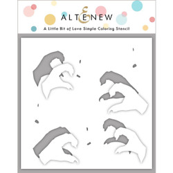 A Little Bit of Love, Altenew Stencils -