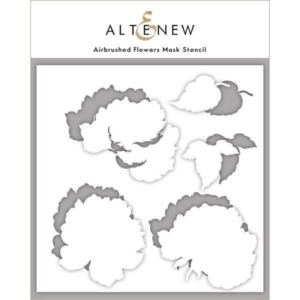 Airbrushed Flowers, Altenew Mask Stencil -
