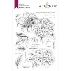 Vintage Garden, Altenew Clear Stamps -