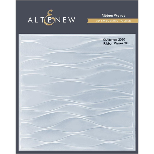 Ribbon Waves 3D, Altenew Embossing Folder -
