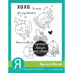 Love is in the Air, Reverse Confetti Clear Stamps -