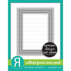 Outlined Frame Cover Panel, Reverse Confetti Cuts -