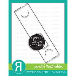 Pencil & Treat Holder, Reverse Confetti Cuts -