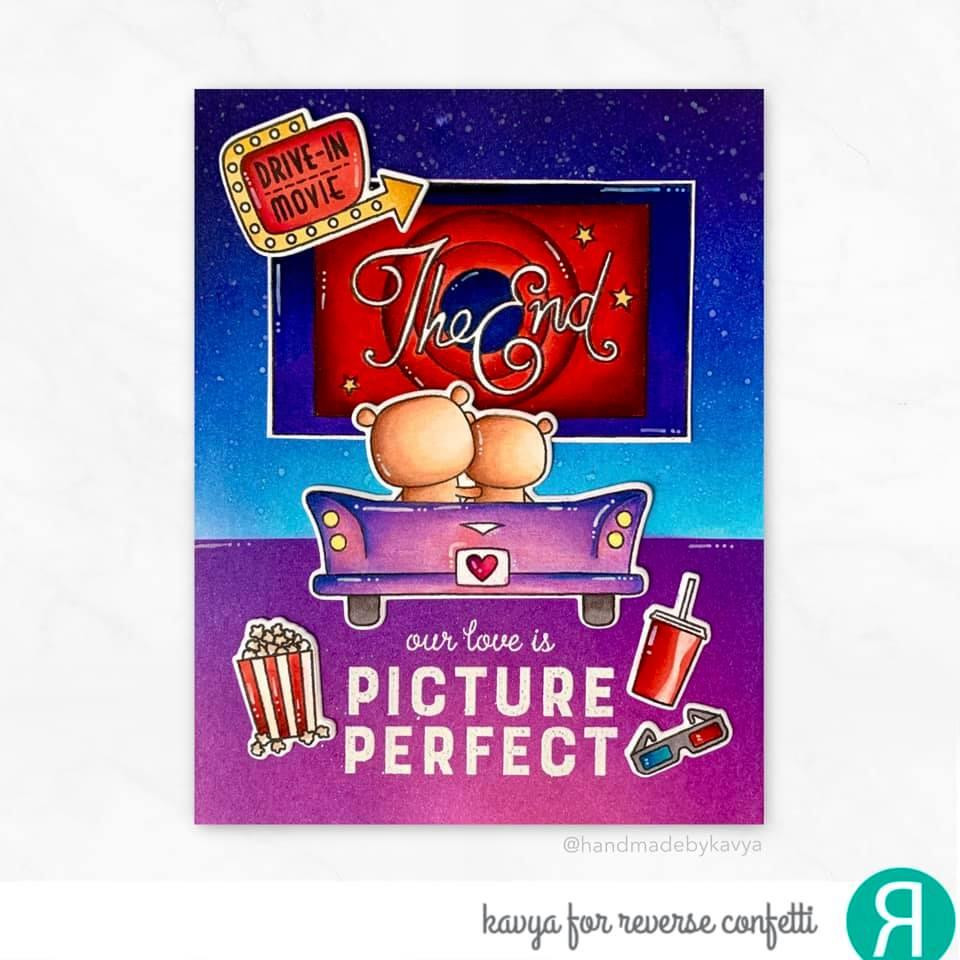 Picture Perfect, Reverse Confetti Clear Stamps -