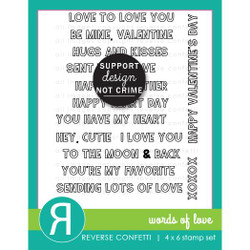 Words of Love, Reverse Confetti Clear Stamps -