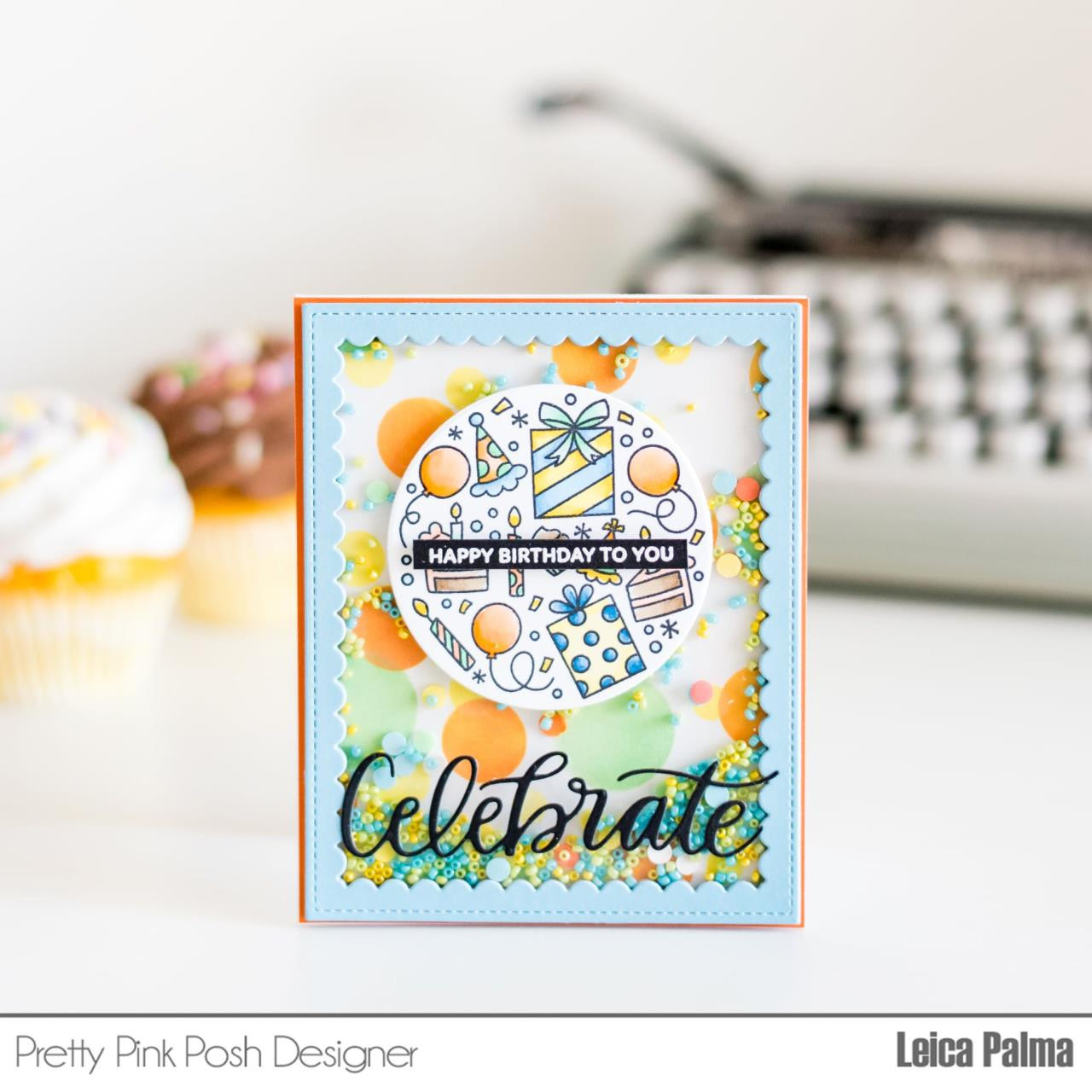 Let's Party, Pretty Pink Posh Clear Stamps -