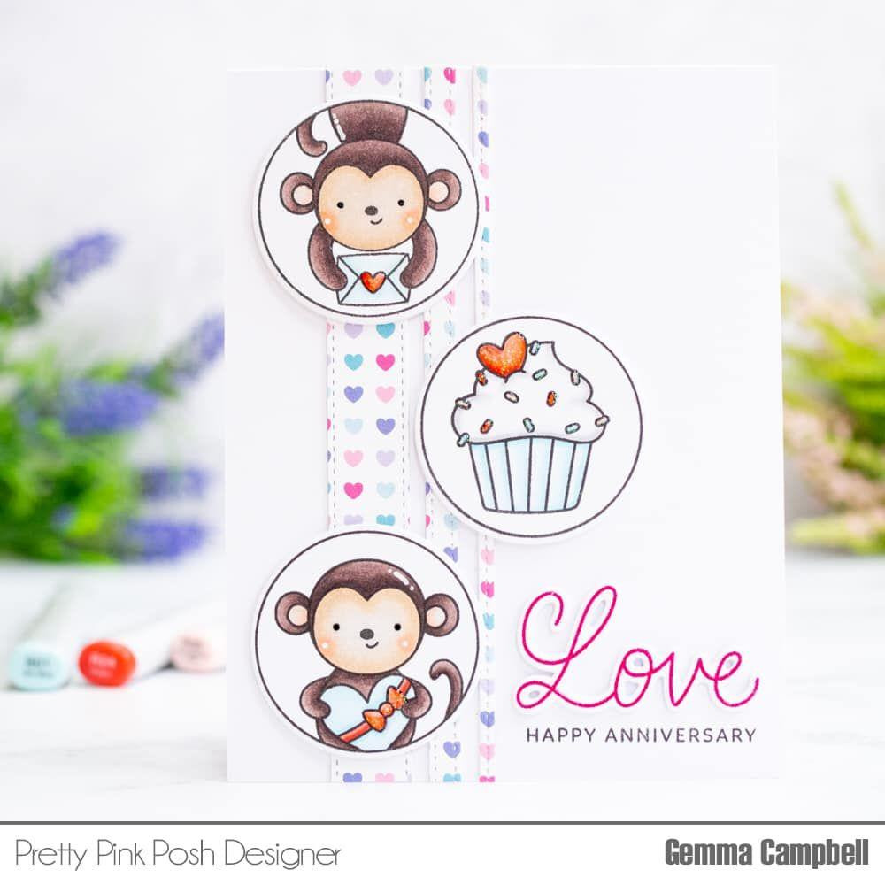 Valentine Circles, Pretty Pink Posh Clear Stamps -
