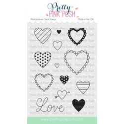 Valentine Hearts, Pretty Pink Posh Clear Stamps -