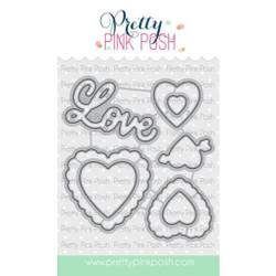 Valentine Hearts, Pretty Pink Posh Dies -