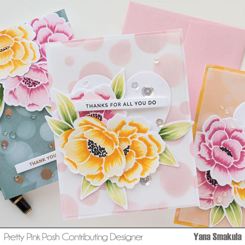 Layered Bokeh, Pretty Pink Posh Stencils -