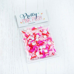 Be My Valentine, Pretty Pink Posh Clay Sprinkles -