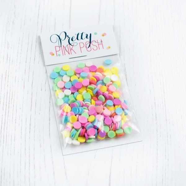 Cupcake, Pretty Pink Posh Clay Sprinkles -