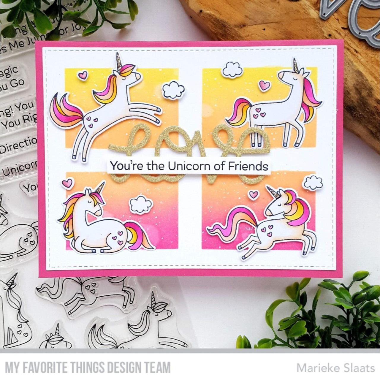 Friendly Unicorns, My Favorite Things Clear Stamps -