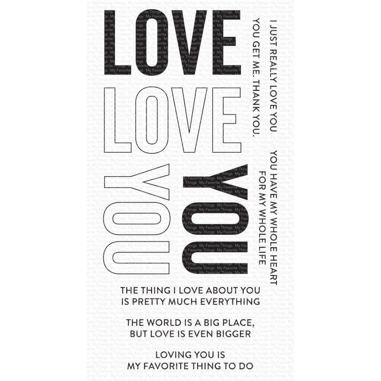 Love You Big Time, My Favorite Things Clear Stamps -