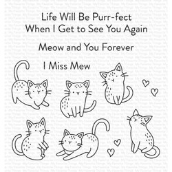 Mini Meows, My Favorite Things Clear Stamps -