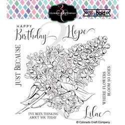 Just Because Lilacs, Colorado Craft Company Clear Stamps -