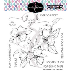 Thank You Dogwood, Colorado Craft Company Clear Stamps -