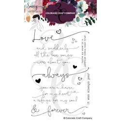 Always & Forever, Colorado Craft Company Clear Stamps -