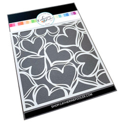 Scribbled Hearts, Catherine Pooler Stencils -