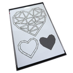 Faceted Heart Trio, Catherine Pooler Stencils -