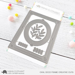 Oval Deco Frame, Mama Elephant Creative Cuts -