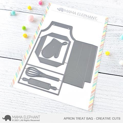 Apron Treat Bag, Mama Elephant Creative Cuts -