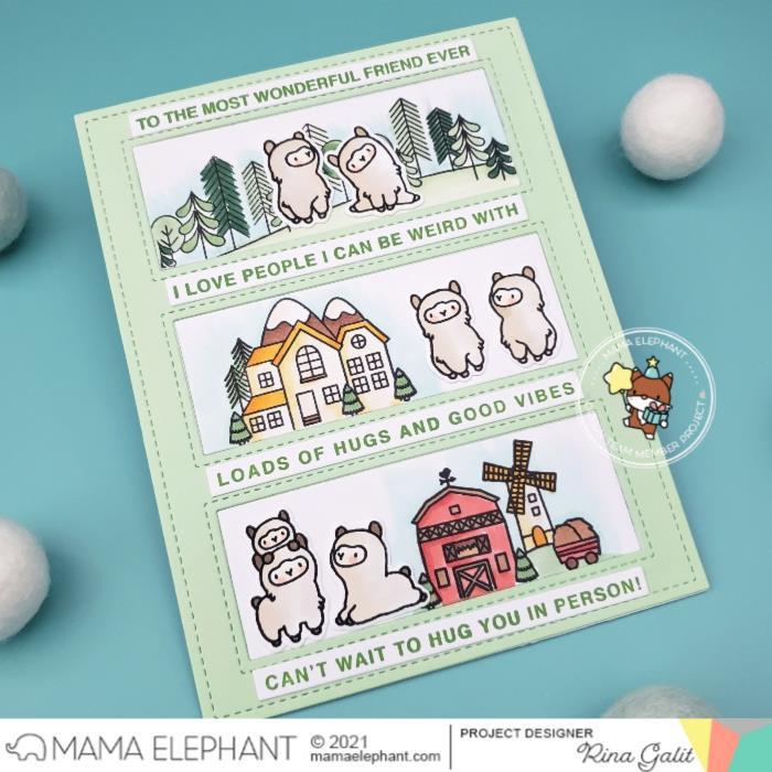 Little Llama Agenda, Mama Elephant Creative Cuts -