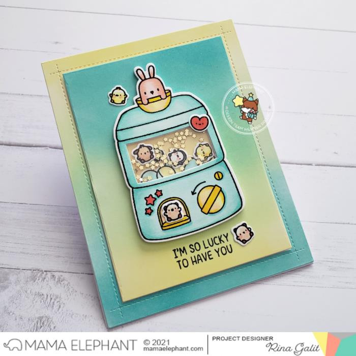 Lil Toy Machine, Mama Elephant Clear Stamps -