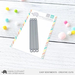 Easy Sentiments, Mama Elephant Creative Cuts -
