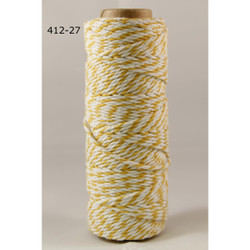 Baker's Twine Twisted Ribbon - Yellow, May Arts -