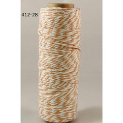 Baker's Twine Twisted Ribbon - Orange, May Arts -