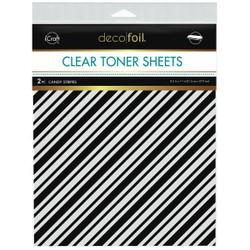 iCraft Deco Foil Clear Designer Toner Sheets, Candy Stripes -