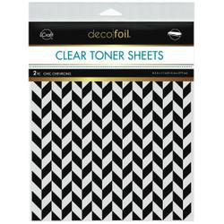 iCraft Deco Foil Clear Designer Toner Sheets, Chic Chevrons -