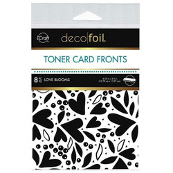 iCraft Deco Foil White Toner Card Fronts, Love Blooms -