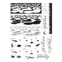 Lily Pond Heroscape, Hero Arts Clear Stamps -
