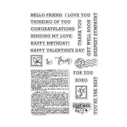 Sending Love Mail, Hero Arts Clear Stamps -