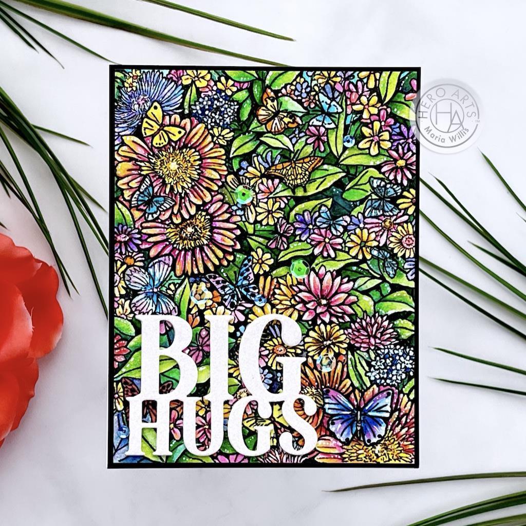 Big Hugs, Hero Arts Stamp & Cut -